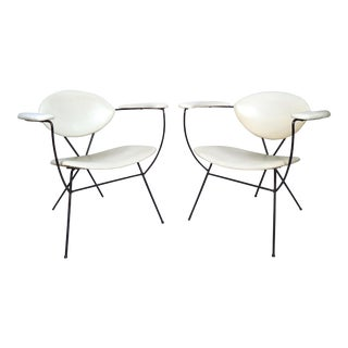 Pair of Vintage Modern Chairs by Joseph Cicchelli For Sale