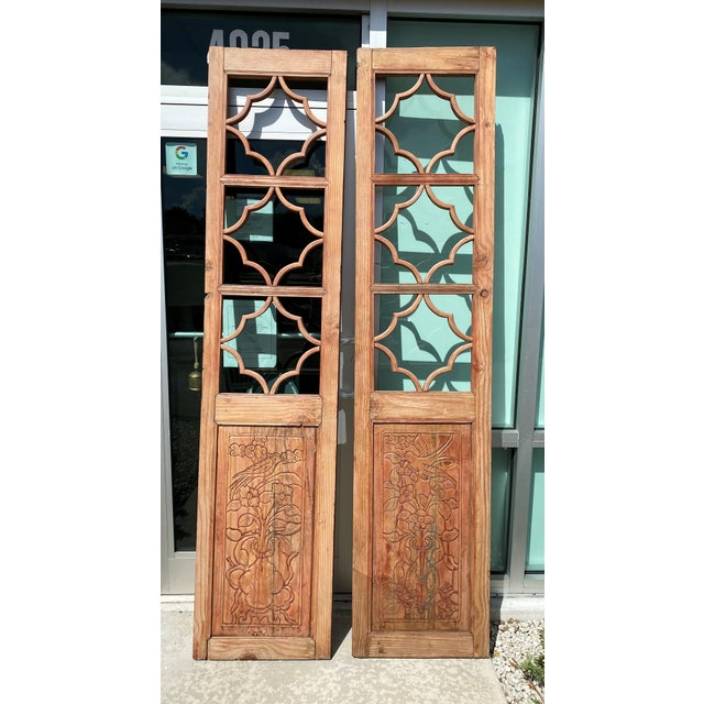 Farmhouse Vintage French Country Doors - a Pair For Sale - Image 3 of 10