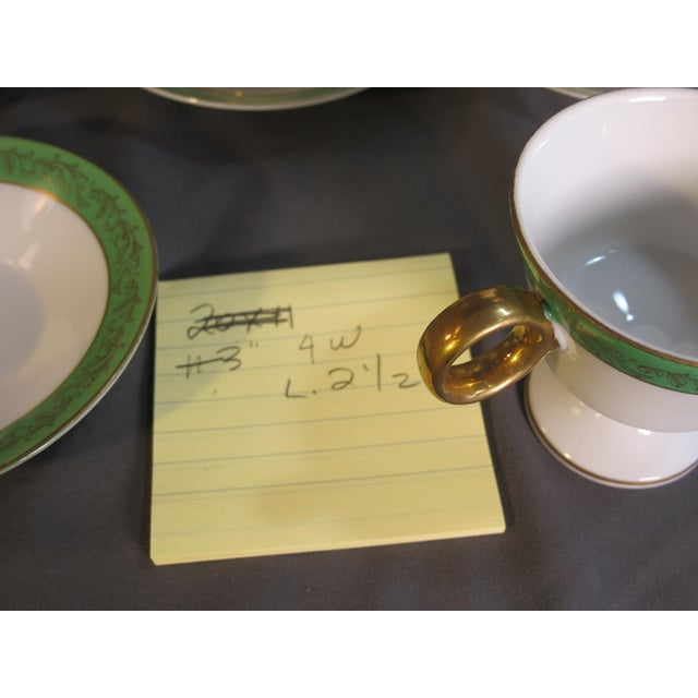 Traditional Mid Century Demi-Tasse Cups & Saucers - Service for 9 For Sale - Image 3 of 7