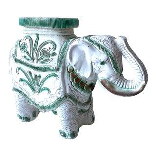 1970's Elephant Outdoor Garden Stool For Sale