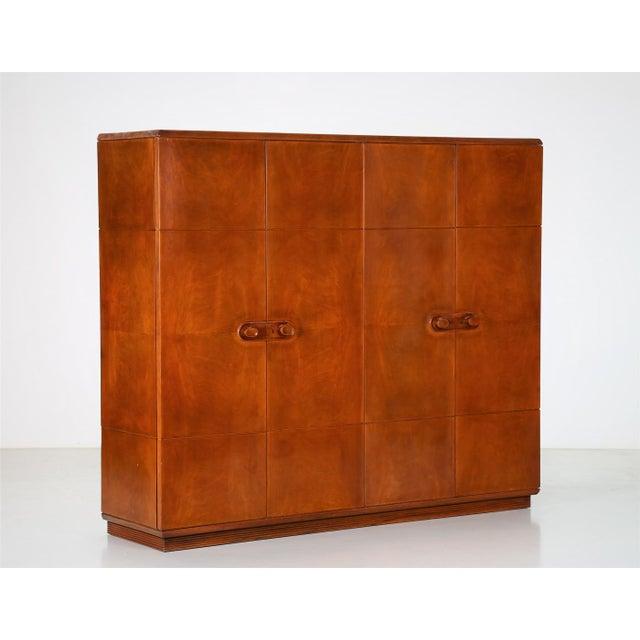Wood Arredamenti Borsani Varedo Wardrobe Arredamenti Borsani for Abv Arredamenti 1950 For Sale - Image 7 of 7