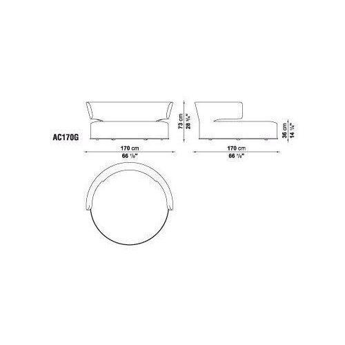 B & B Italia Maxalto Amoenus Circular Swival Sofa For Sale - Image 5 of 5