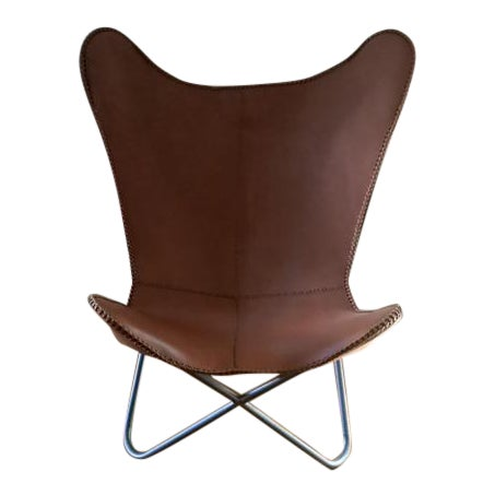 Leather Butterfly Chair For Sale