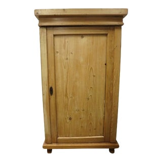 19th Century English Pine Cupboard For Sale