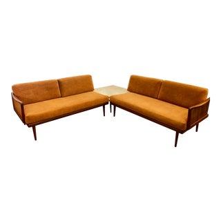 Danish 1960's Peter Hvidt & Orla Molgaard-Nielsen Daybed/ Sectional Sofa in Teak for France & Sons For Sale