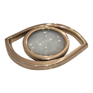 "Brass 'Evil Eye"" Magnifying Glass Decor Object For Sale"