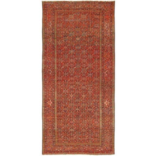 "Antique Malayer Lamb's Wool Rug- 7'6"" X 16'3"" For Sale"