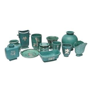 "Collection of Gustavsberg ""Argenta"" Ceramics, Wilhelm Kage Designed For Sale"