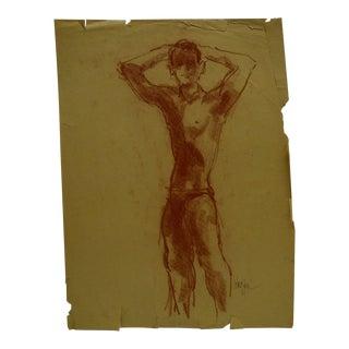 "Korogen ""Flexing Dandy"" Original Drawing on Paper For Sale"
