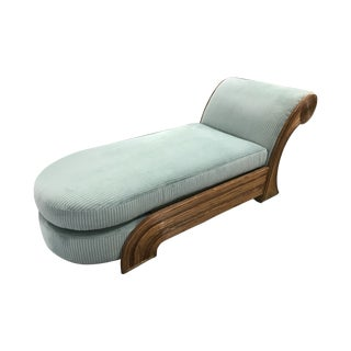 1970s Split Reed Chaise Lounge in the Style of Gabriella Crespi For Sale
