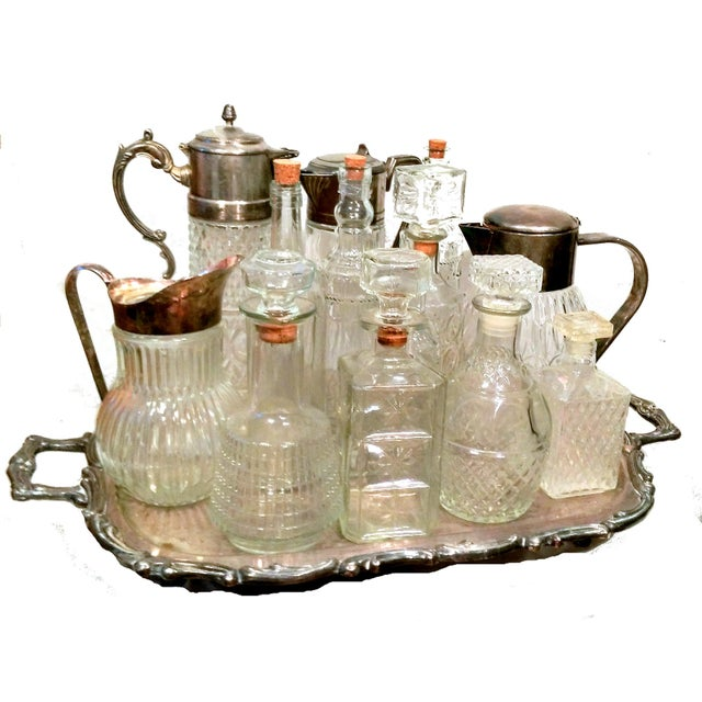 Italian Crystal & Glass Beverage Set - 14 Piece - Image 1 of 7