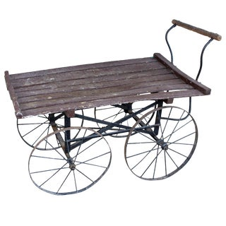 19th Century Antique French Vineyard Cart For Sale