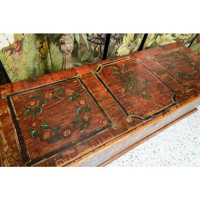 Central EuropeanPainted Trunk For Sale In West Palm - Image 6 of 9