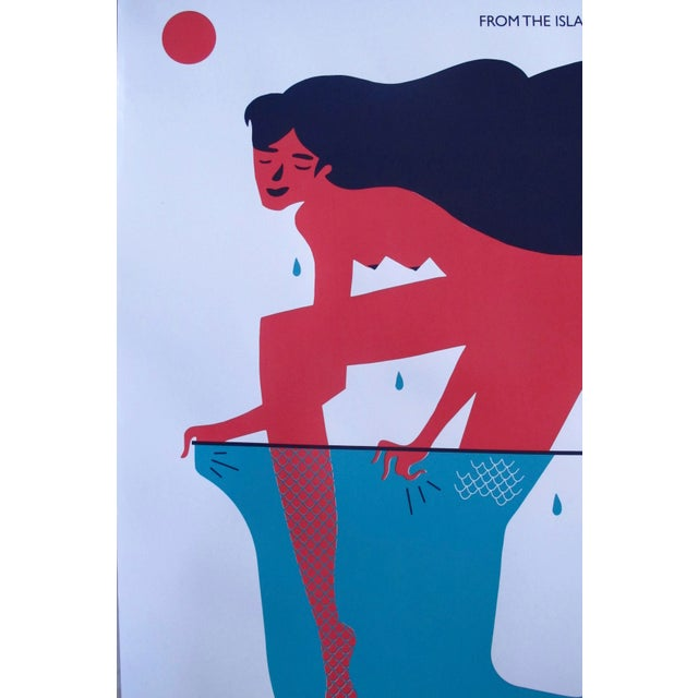 Contemporary 2018 Cuban Silkscreen Poster, Mermaid (Signed, Numbered) For Sale - Image 3 of 6
