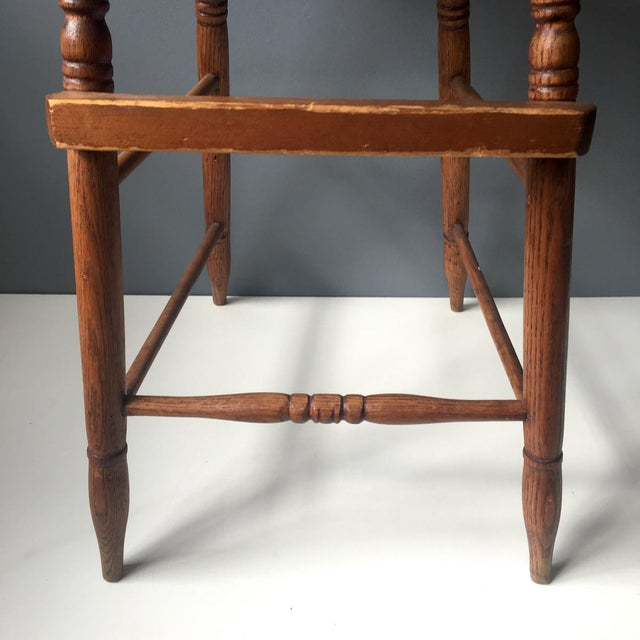 Antique Caned Seat Oak Youth Chair For Sale - Image 9 of 10 - Antique Caned Seat Oak Youth Chair Chairish