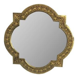 19th Century Bronze Cloverleaf Mirror