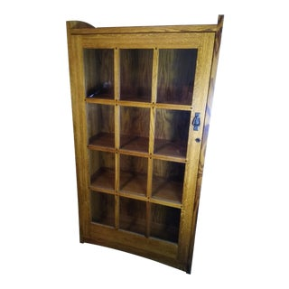 Mission-Style Restoration Hardware Oakwood Bookcase For Sale