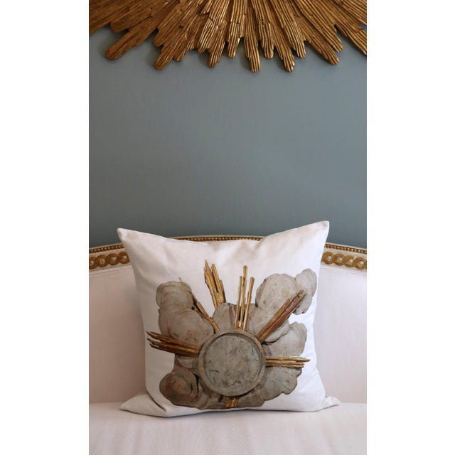 2020s French Cathedral Altar Fragment Photo Pillow For Sale - Image 5 of 13