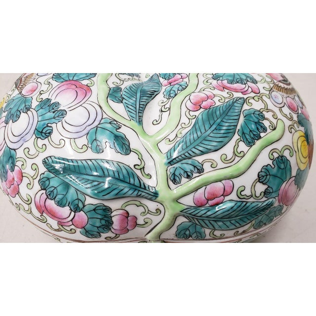 White Mid 20th Century Chinese Porcelain Container With Lid For Sale - Image 8 of 10