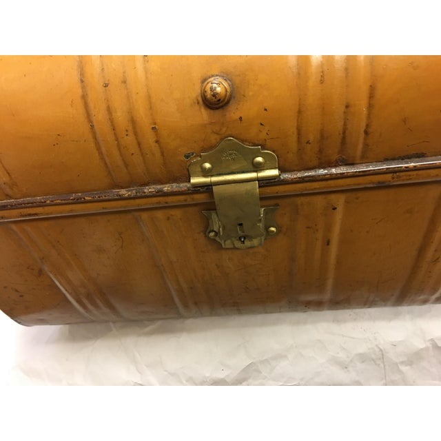 Old Victorian English Tin Trunk - Image 4 of 6