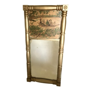 Chinoiserie Style Trumeau Mirror