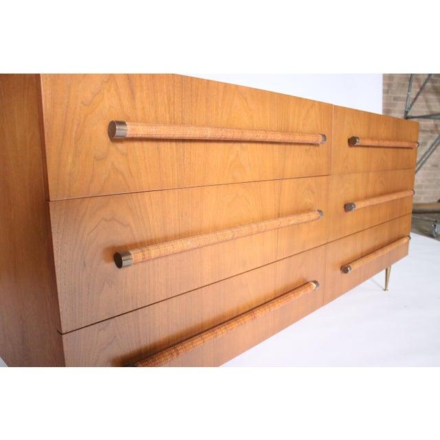 Gold t.h. Robsjohn Gibbings Six-Drawer Dresser for Widdicomb For Sale - Image 8 of 9