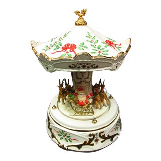 Lenox Carousel With Reindeer and Santa For Sale