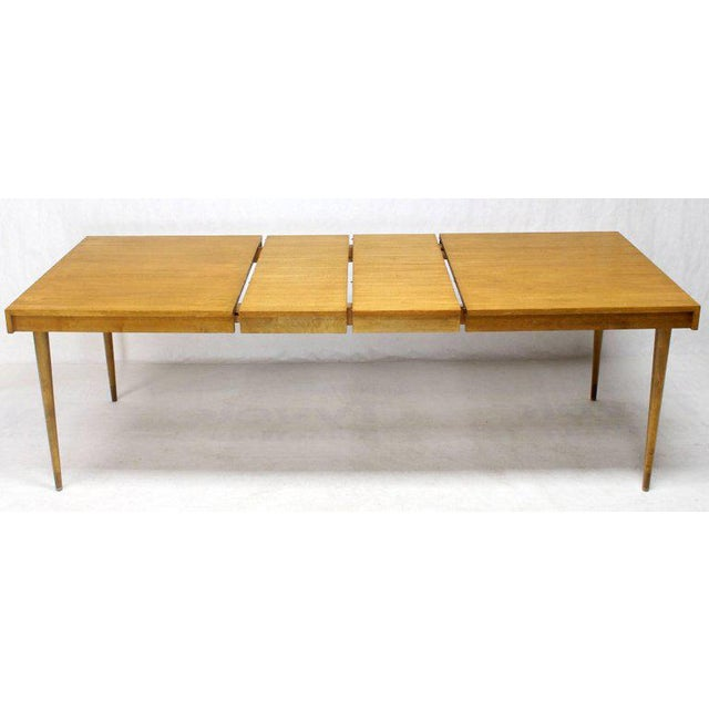 Edmond J. Spence Swedish Blond Birch Dining Table W/ Two Extension Leafs For Sale - Image 11 of 11