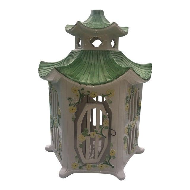 Italian Ceramic Pagoda Birdhouse - Image 1 of 8