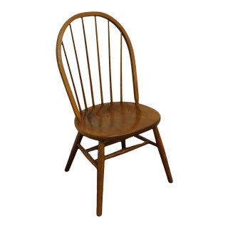 Nichols & Stone Gardener, Mass. Solid Oak Country French Bowback Windsor Side Chair For Sale