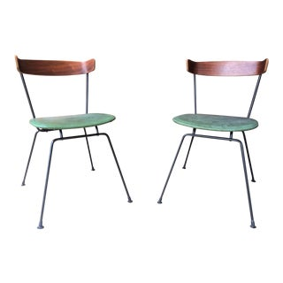 Clifford Pascoe Mid-Century Wrought Iron Chairs - a Pair