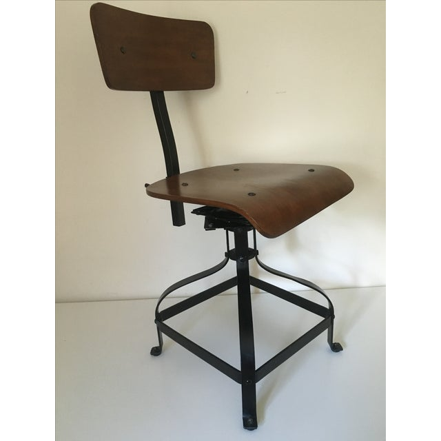 Vintage Toledo-Style Industrial Chair - Image 2 of 5
