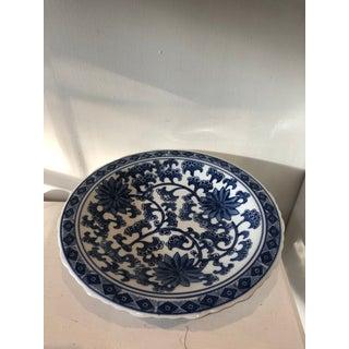 Blue & White Pedestal Cake Plate Preview