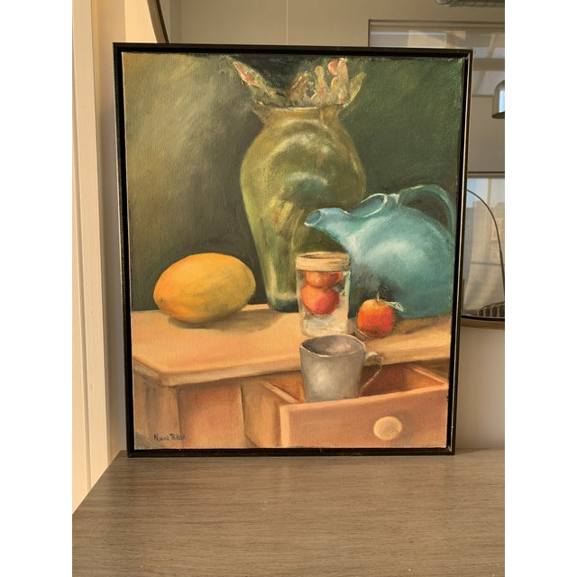 Still Life Painting With Lemon and Pitcher For Sale - Image 9 of 9