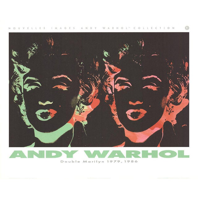 Andy Warhol-Double Marilyn (Reversal Series)-1989 Poster For Sale