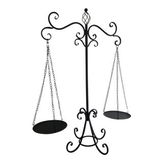 Black Wrought Iron Hanging Scales For Sale