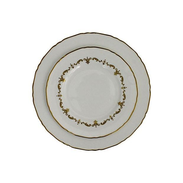 Royal Worcester Gilded Plates - Pair - Image 3 of 6