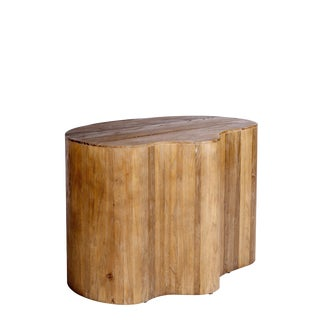 Portia Elm Wood Side Table For Sale