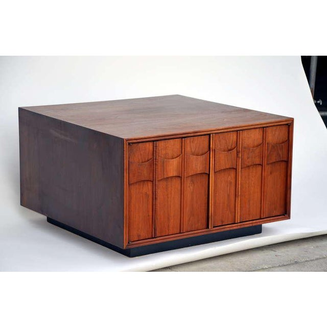 Mid-Century Modern Rare Carved Walnut Cabinet by Brown Saltman For Sale - Image 3 of 10