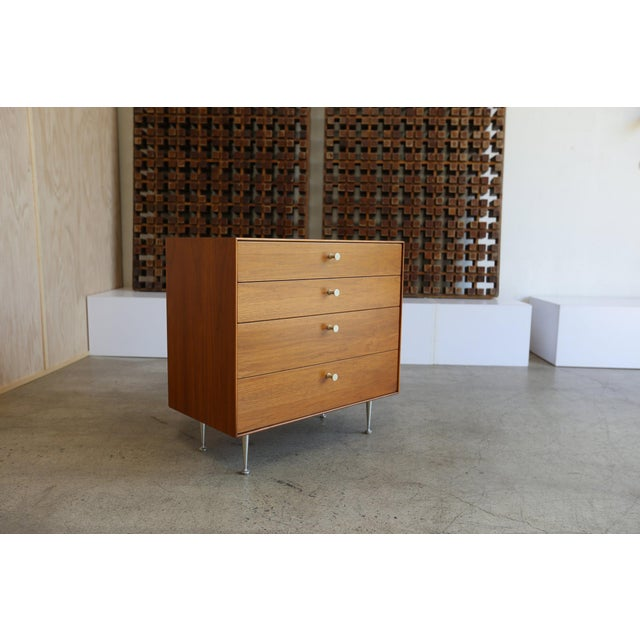 Mid-Century Modern George Nelson for Herman Miller Teak Thin Edge Chest of Drawers For Sale - Image 9 of 12