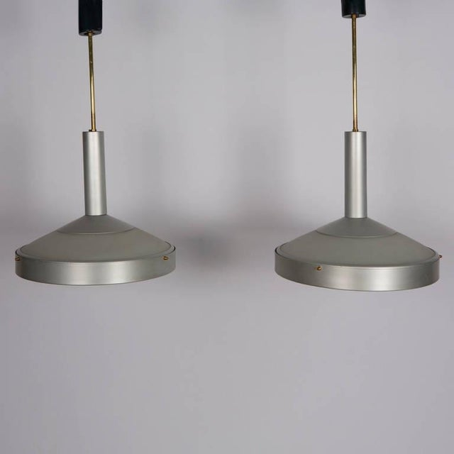 Stilux Pair of Two Pendant Lamps by Stilux For Sale - Image 4 of 9