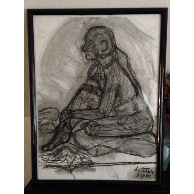Original Framed Charcoal Nude Sketch - Image 2 of 4