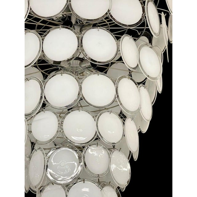 Mid 20th Century Pair of Mid-Century Modern Style Murano Glass Chandelier For Sale - Image 5 of 10