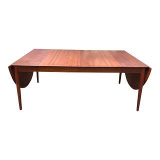 Vintage Arne Vodder Danish Teak Drop Leaf Extendable Dining Table Model 227 For Sale