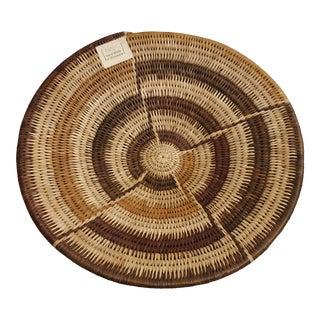 1980s Vintage Botswana Palm Leaf Basket Bowl For Sale