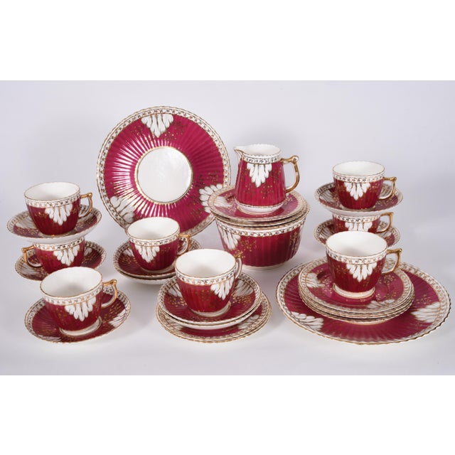 Vintage English porcelain luncheon service for eight people . Each piece is in excellent vintage condition . all together...