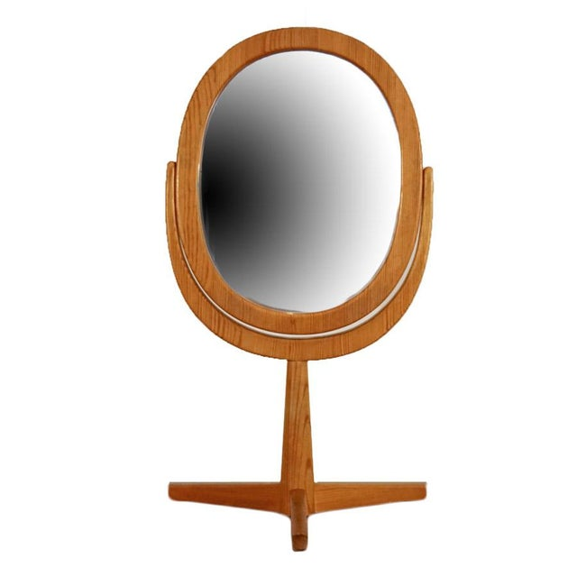 Brown Mid 20th Century Hans Agne Jakobsson Table Mirror For Sale - Image 8 of 8