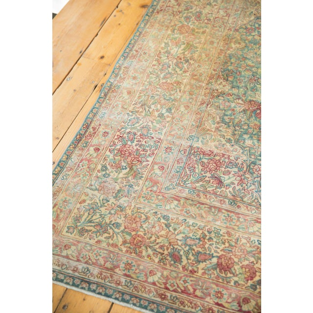 Cotton Vintage Distressed Kerman Carpet - 10' X 16' For Sale - Image 7 of 13