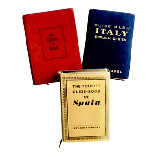 Mid Century Israel, Italy, Spain Travel Books - Set of 3 For Sale
