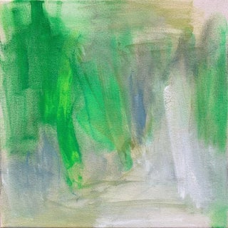 """Nashville Green"" by Trixie Pitts Small Abstract Oil Painting For Sale"